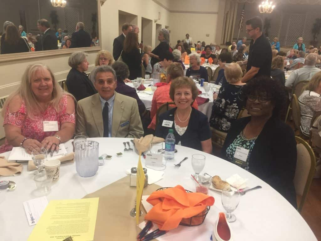 Members of BCREA attend NJREA Luncheon 2019 Randi Allshouse, Ron Giordano, Joan Pujol, and Betty Meeks-Manning